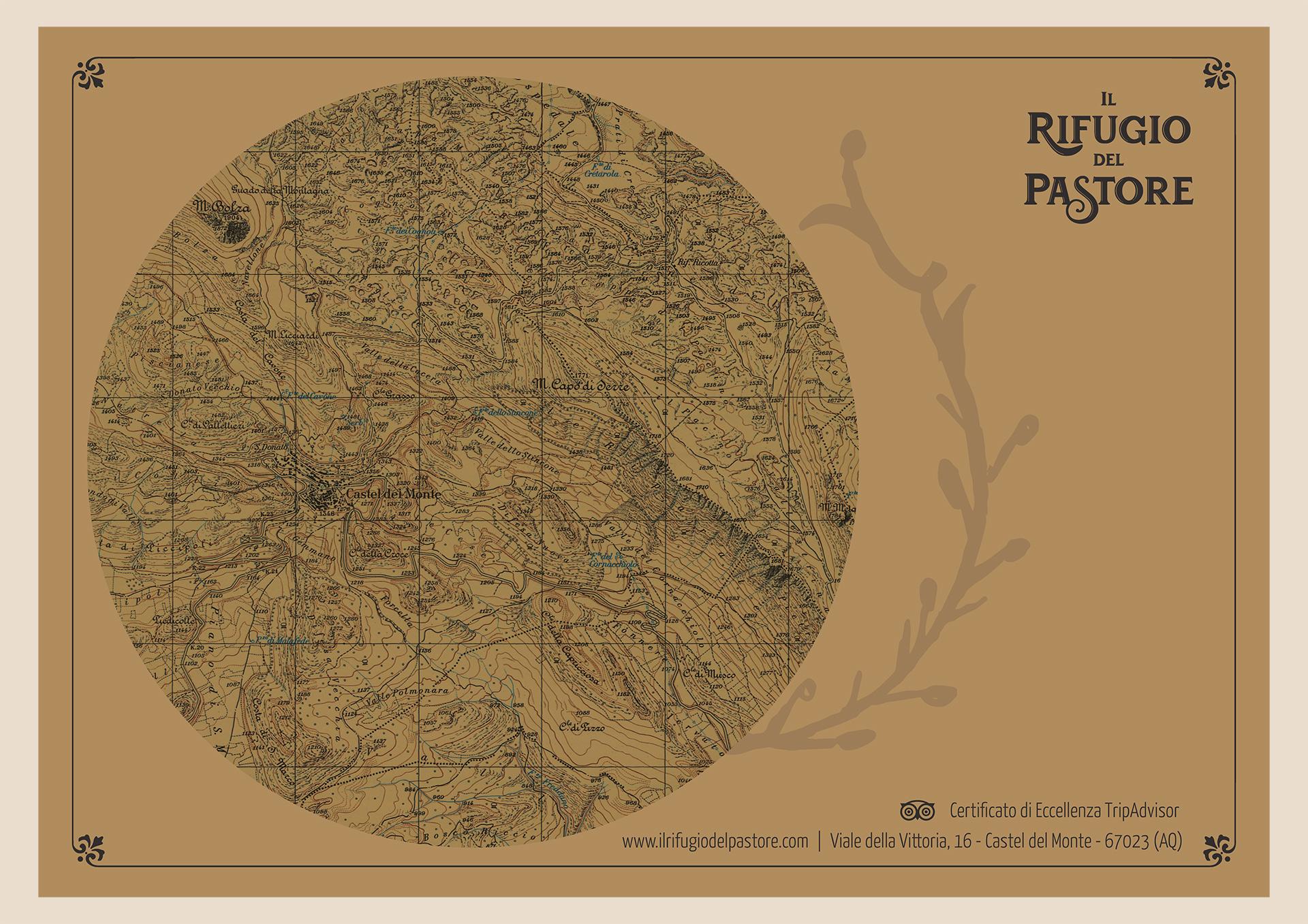 Wider View Il Rifugio Del Pastore Tovaglietta Cartina