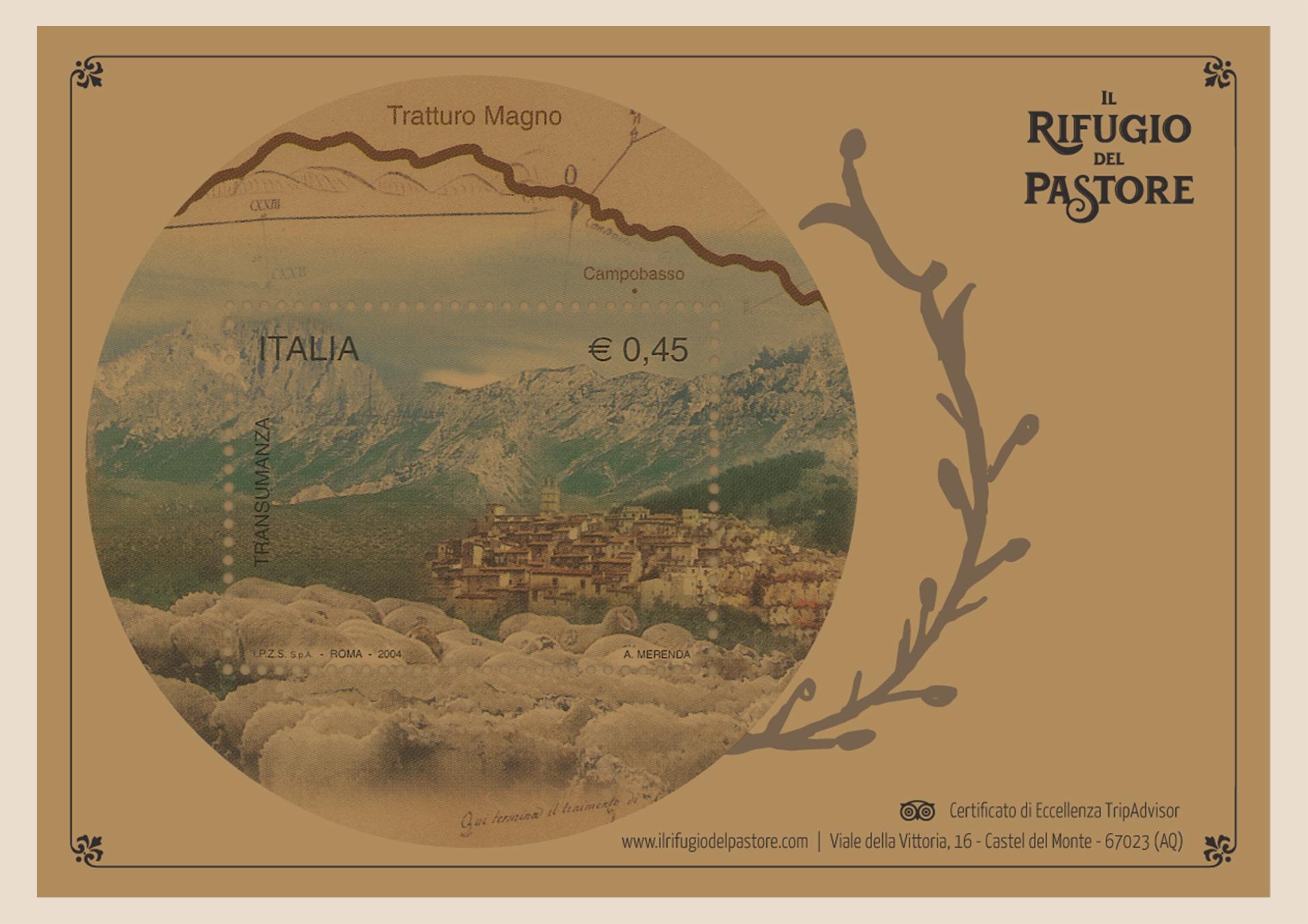Wider View Il Rifugio Del Pastore Tovaglietta Francobollo
