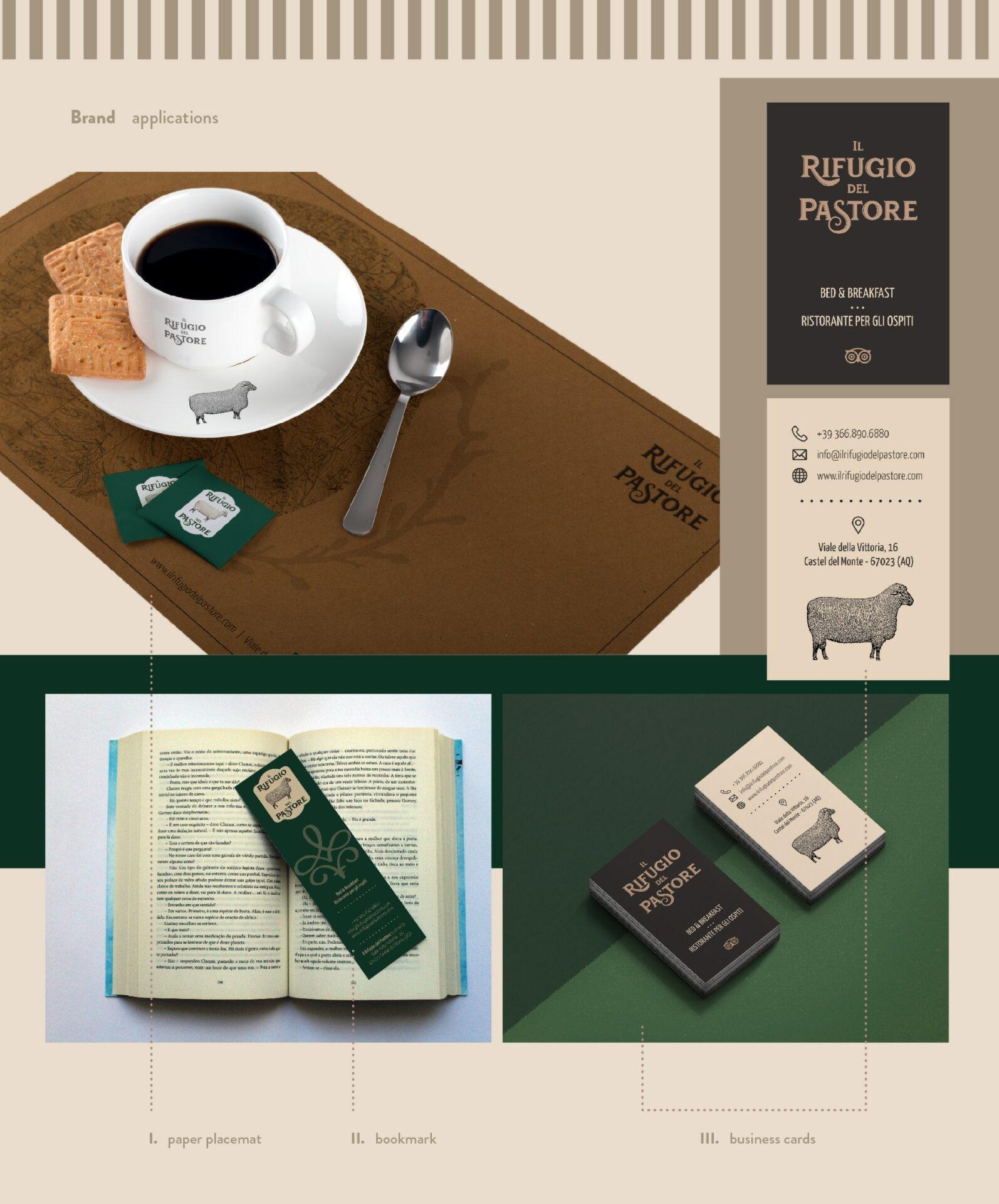 Wider View Portfolio il Rifugio Del Pastore Brand Identity
